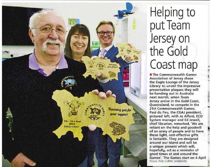 JEP feature our President with gifts for GC2018